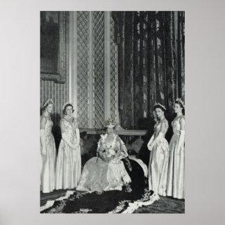 Princesa Elizabeth e suas damas de honra Pôsteres