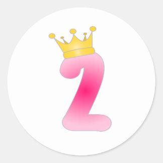 Princesa Etiqueta do aniversário da criança de