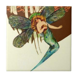 Princesa feericamente Borboleta Asa Acento Telhar Azulejo Quadrado Pequeno