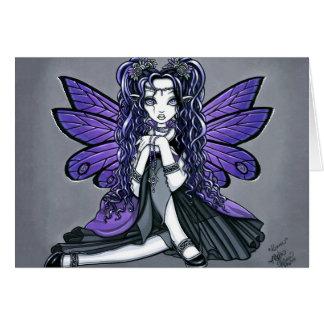 Princesa feericamente Cartão da borboleta gótico