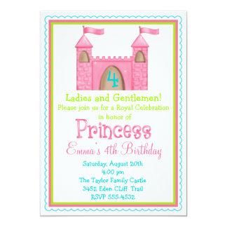 Princesa feericamente Castelo Aniversário Convite