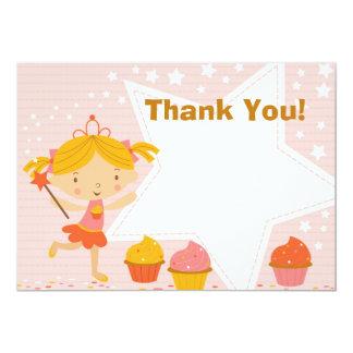 Princesa feericamente feita sob encomenda Cupcake Convite 12.7 X 17.78cm