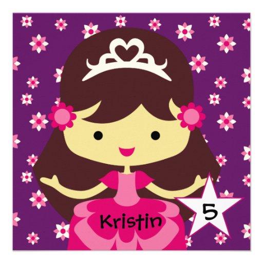 Princesa feita sob encomenda Aniversário Convite d