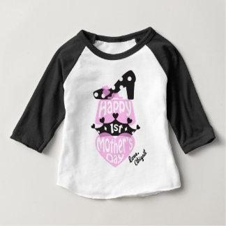Princesa feliz Camisa do dia das mães das meninas