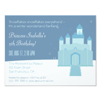 Princesa festa de aniversário do país das convite 10.79 x 13.97cm