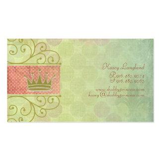 Princesa gasto cartões de visitas