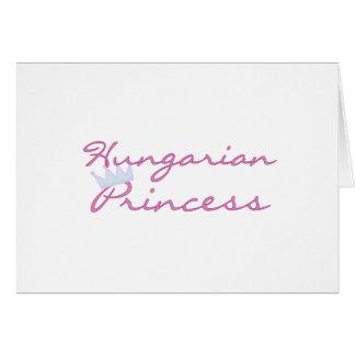 Princesa húngara cartões