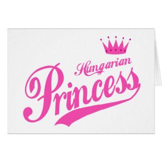Princesa húngara cartão comemorativo