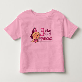 Princesa Idade 3 Camiseta Infantil