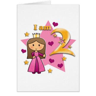 Princesa Idade dois Cartão Comemorativo