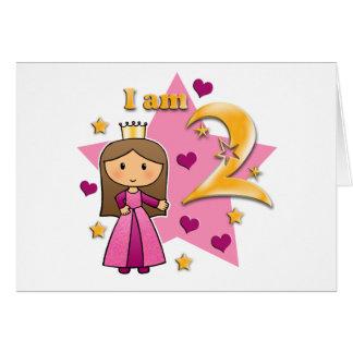 Princesa Idade dois Cartão De Nota