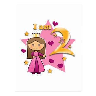 Princesa Idade dois Cartão Postal