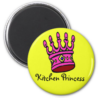 Princesa Ímã da cozinha Ímã Redondo 5.08cm