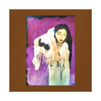 Princesa indiana Canvas do nativo americano Impressão Em Tela
