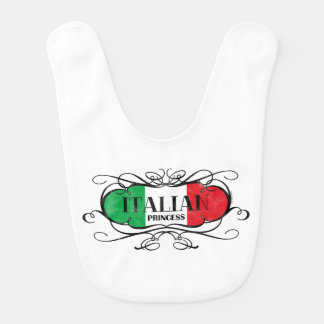 Princesa italiana babador de bebe