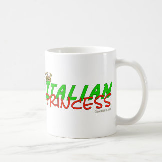 Princesa italiana Com Coroa Caneca De Café