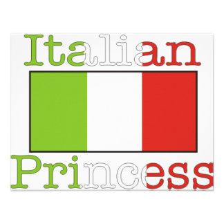 Princesa italiana convites personalizados