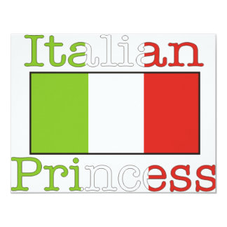 Princesa italiana convite 10.79 x 13.97cm