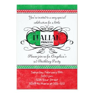 Princesa italiana convite de festas