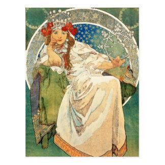Princesa Jacinto Cartão de Alphonse Mucha