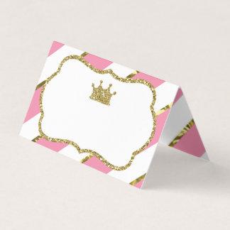 Princesa Lugar Cartão, cartões da comida, ouro do