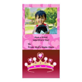 Princesa Menina dos namorados Cartão Com Foto Personalizado