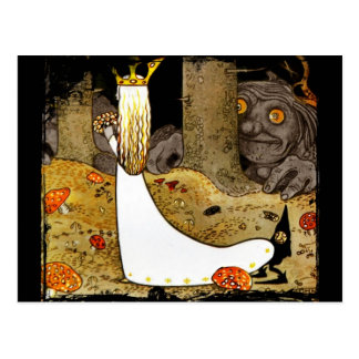 Princesa no branco com flores cartão postal
