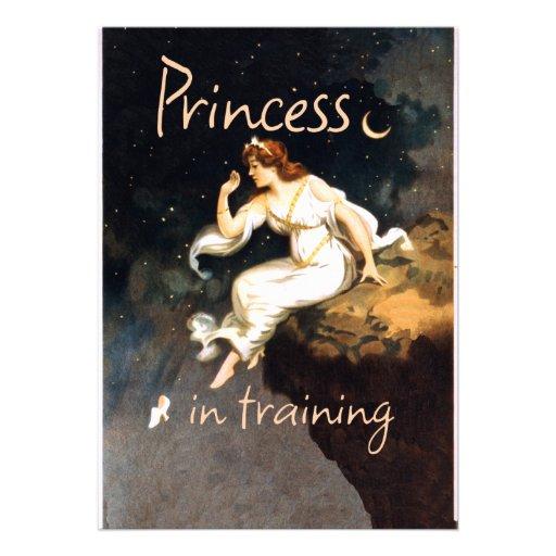 Princesa no treinamento convites personalizado