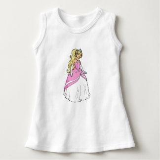 Princesa no vestido sem mangas do bebê cor-de-rosa