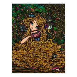 Princesa Original Arte Cartão do livro de