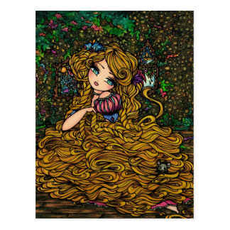 Princesa Original Arte Cartão do livro de Cartão Postal