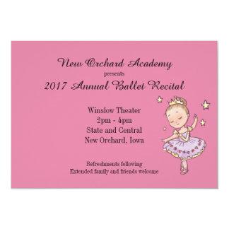 Princesa pequena Bailarina Considerando Convite