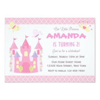 Princesa pequena convite de aniversário (Pink)