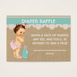 Princesa pequena Fralda Raffle Introdução Cartão De Visitas