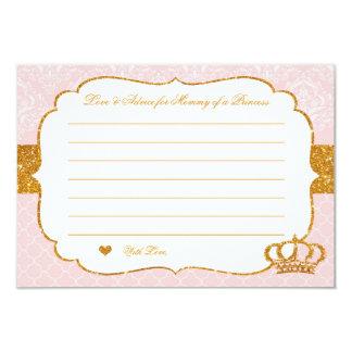 Princesa pequena real Cor-de-rosa e cartão do