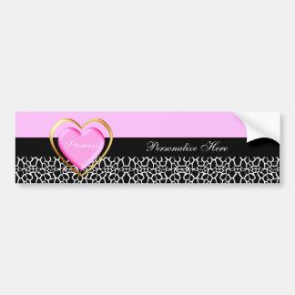 Princesa preta cor-de-rosa feminino Girafa Adesivo Para Carro
