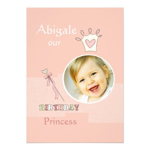 Princesa Primeiro Aniversário - festa de aniversár Convites