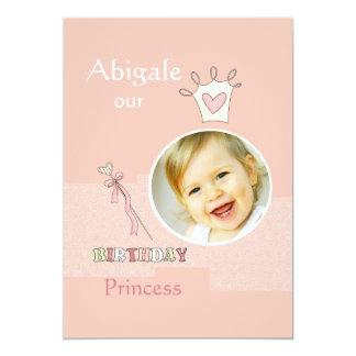 Princesa Primeiro Aniversário - festa de Convites
