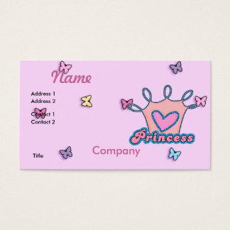 Princesa Projeto do brilho Cartão De Visitas