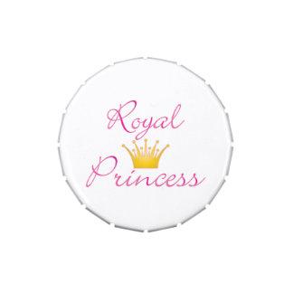 Princesa real latinhas personalizadas