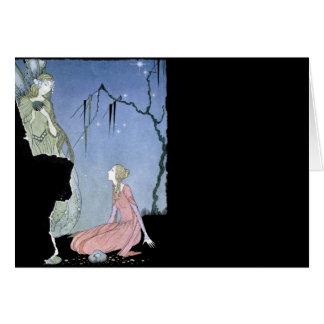 Princesa Rosette e fada Cartoes