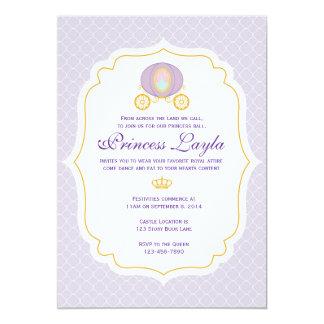 Princesa roxa Aniversário Convite