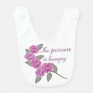 Princesa roxa da flor babador