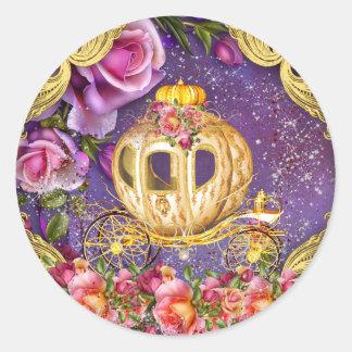 Princesa roxa Etiqueta