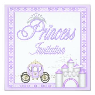 Princesa roxa Treinamento e festa de aniversário Convite Quadrado 13.35 X 13.35cm
