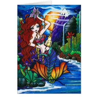 Princesa Sereia Fada Cockatoo Cartão de Maui
