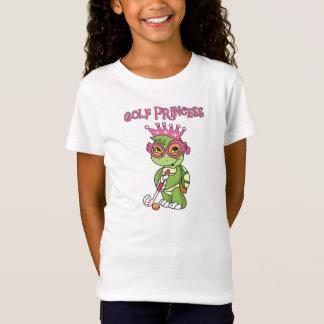Princesa T-shirt e presentes do golfe da tartaruga Camiseta