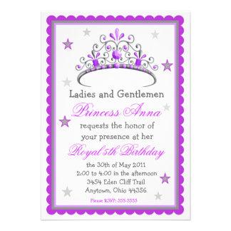 Princesa Tiara Aniversário Convite
