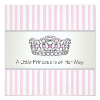 Princesa Tiara Cor-de-rosa princesa chá de fraldas Convite