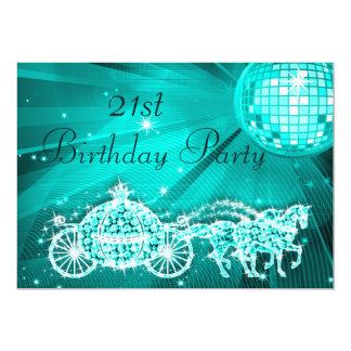 Princesa Treinamento & cavalos & aniversário de 21 Convite 12.7 X 17.78cm